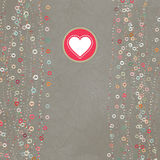 Vintage gray card with hearts. EPS 8. Vintage gray card with hearts. And also includes EPS 8 Royalty Free Stock Image