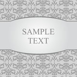 Vintage gray damask background with frame Royalty Free Stock Photos