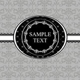 Vintage gray damask background with frame of white Stock Photos