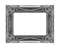 Vintage gray frame isolated on white background, with clipping p Royalty Free Stock Photography
