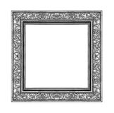 Vintage gray frame isolated on white background , clipping path. Vintage gray frame isolated on white background and clipping pat Stock Images