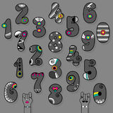 Vintage Gray Numbers Illustration de Vecteur