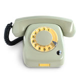 Vintage gray telephone Royalty Free Stock Image