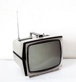 Vintage gray TV Royalty Free Stock Photography