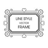 Vintage grayscale frame in a line style Stock Images
