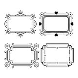 Set of vintage grayscale frame in a lineart style Royalty Free Stock Photography