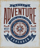 Vintage Great Adventure Typography Stock Photos