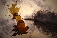 Vintage Great Britain map Stock Images