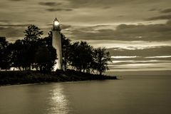 Vintage Great Lakes Lighthouse Royalty Free Stock Image