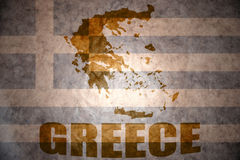Vintage greece map Stock Photo