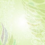 Vintage green abstract floral background left Stock Images