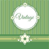 Vintage green background with flowers Royalty Free Stock Photo