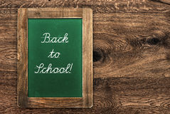 Vintage green blackboard with rustic frame Royalty Free Stock Images