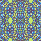 Vintage green and blue pattern Stock Photos