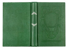 Vintage green book with embossed Stock Photography
