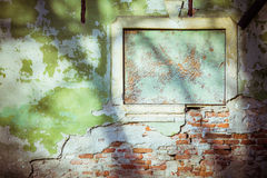Vintage green cement brick wall background Royalty Free Stock Photo