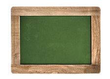 Vintage green chalkboard isolated on white Stock Photography
