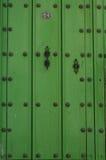 Vintage Green Door Stock Image