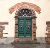 Vintage green door Stock Photography