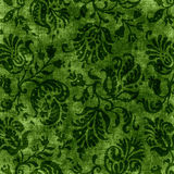 Vintage Green Floral Tapestry Royalty Free Stock Image