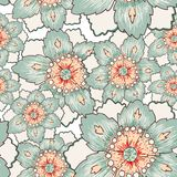 Vintage green flower seamless texture Stock Photo