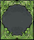 Vintage green frame Stock Images
