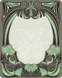 Vintage green frame Stock Photo