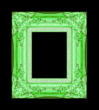 Vintage green frame with blank space on black background , with Royalty Free Stock Photo