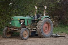 Vintage green German tractor stock photography