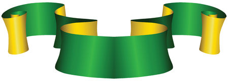Vintage green and gold ribbon. For decoration work. Vector illustration Royalty Free Stock Image