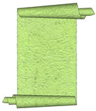 Vintage green grunge rolled parchment. Illustration with ragged borders stock illustration
