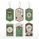 Vintage green labels. On environmental conservation, organic food and energy saving Royalty Free Stock Photography