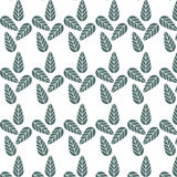 Vintage Green leaf patterns Stock Photo