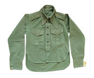 Vintage green military long sleeve shirt royalty free stock image