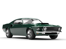 Vintage green muscle car Stock Photography