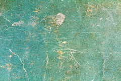 Vintage green paper texture with damages and spots. Abstract background Royalty Free Stock Photography