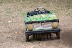 Vintage green pedal car Royalty Free Stock Image