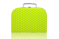 Vintage Green Polka Dot Lunchbox Stock Photos