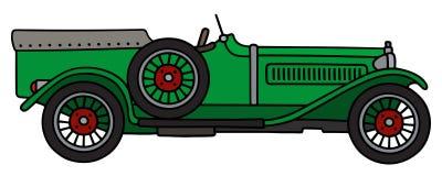 Vintage green racing car Stock Image
