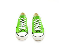 Vintage green shoes Stock Images