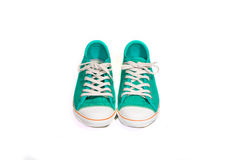 Vintage green shoes Stock Photo