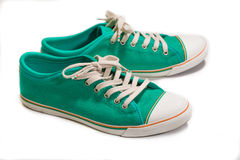 Vintage green shoes Stock Image