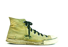 Vintage green sneaker Stock Photography