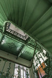 Vintage, green staircase Stock Images
