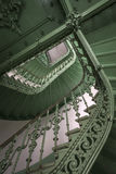 Vintage, green staircase Royalty Free Stock Photos