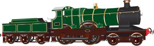 Vintage Green Steam Locomotive Royalty Free Stock Photos
