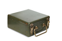 Vintage green suitcase Royalty Free Stock Photography