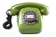 Vintage green telephone Stock Photography