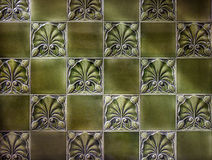 Vintage Green Tiles Stock Image