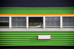 Vintage green train windows Stock Image